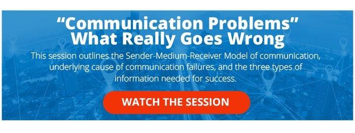 Universal - 2020 Rave Summit Session Communication Problems