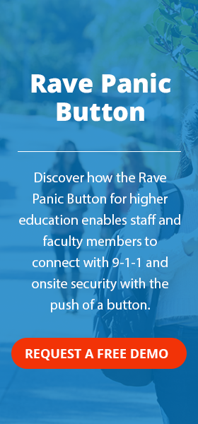 rave panic button fog higher education seo page cta