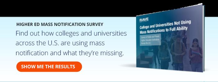 Higher Ed Mass Notification Survey