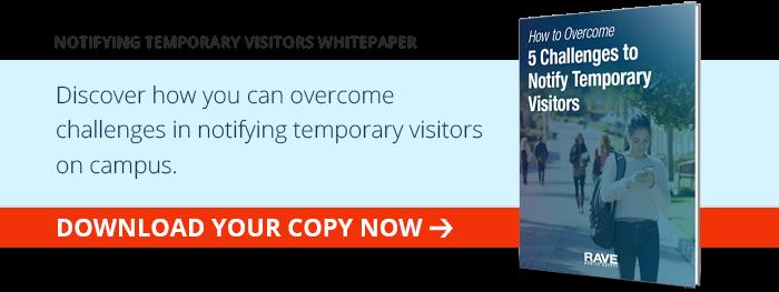 Notifying Temporary Visitors