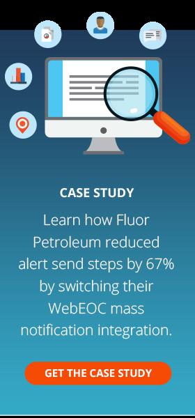 Fluor WebEOC Mass Notification