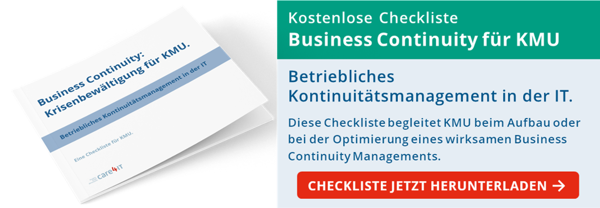 Checkliste Business Continuity - CTA