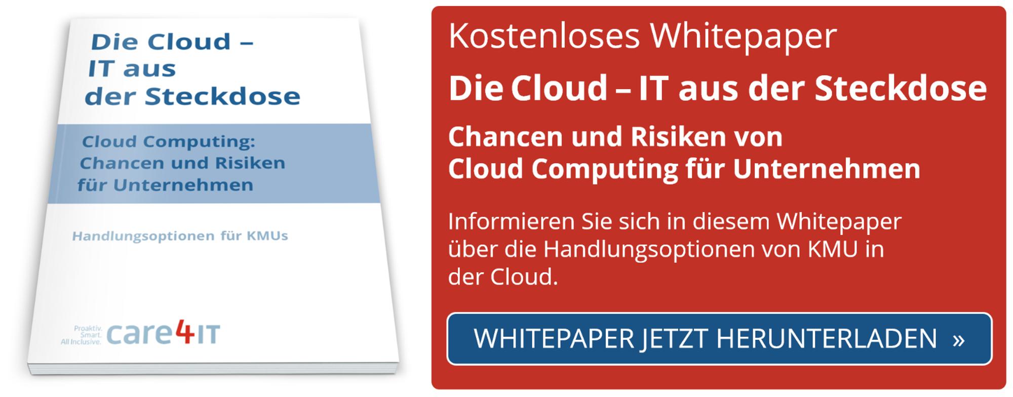 Cloud: Chancen und Risiken für KMU | Managed IT Services | Zürich | care4IT