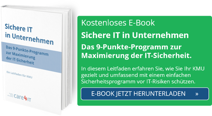 Cyber Security: Maximierte IT-Sicherheit in Unternehmen | Managed IT Services | Zürich | care4IT