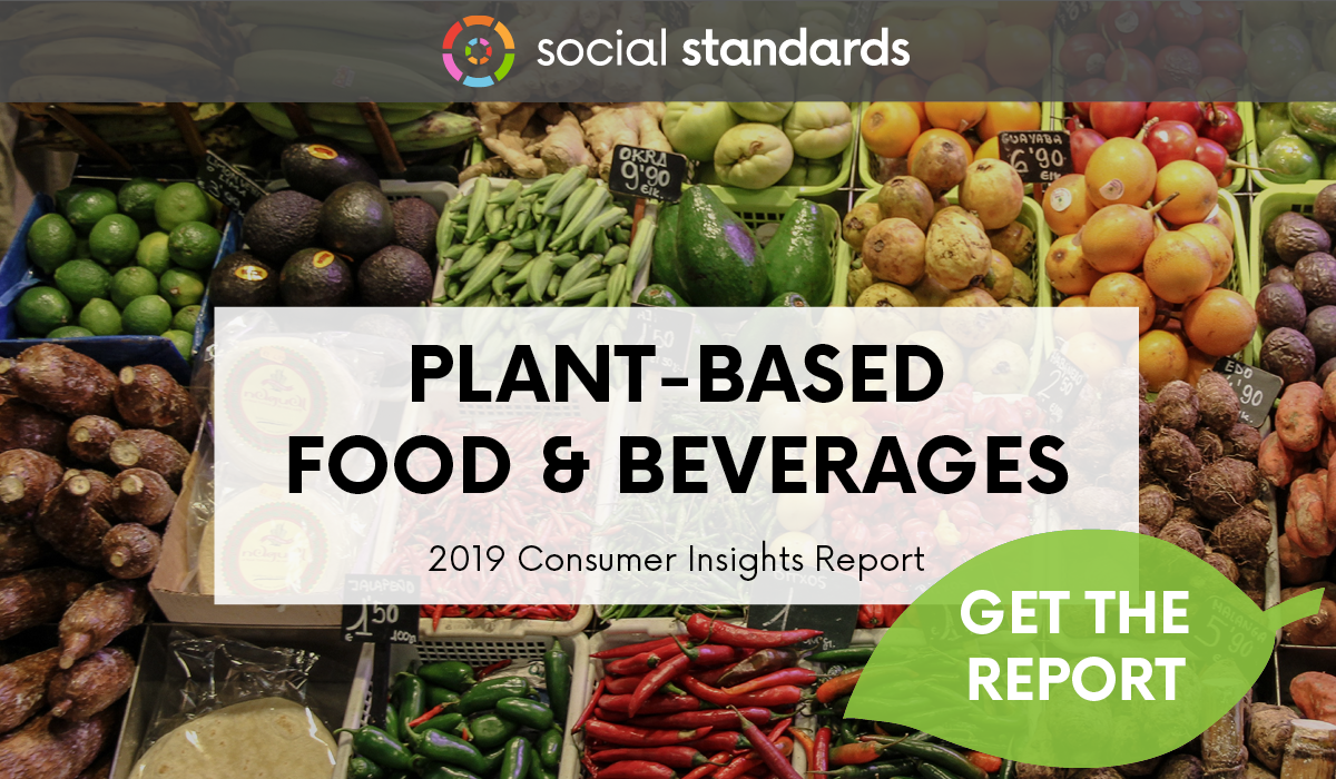 A consumer insights report cover showing bins of produce at a farmer's market.