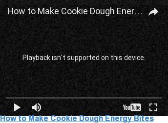 How to Make Cookie Dough Energy Bites  <> <> <> <> <> <> <> <> <> <>