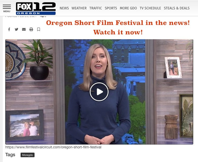 Oregon Short Film Festival on Fox 12