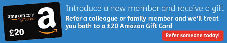 Refer a friend, colleague or family member and receive £20 amazon gift card