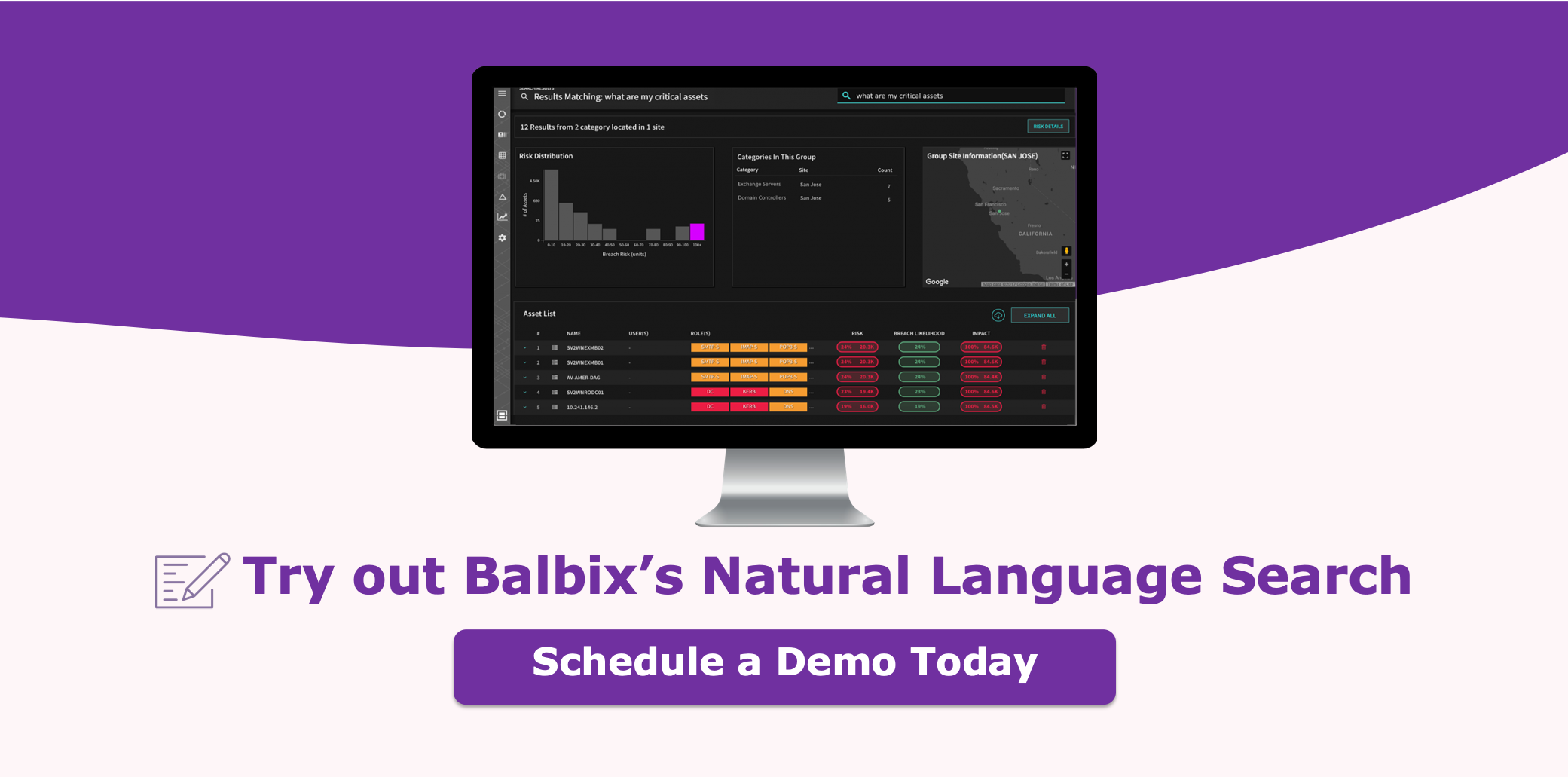 Try out Balbix's Natural Language Search