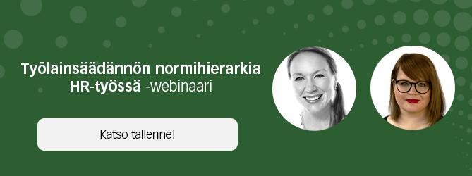 Työlainsäädännön normihierarkia HR-työssä - ilmoittaudu webinaariin!