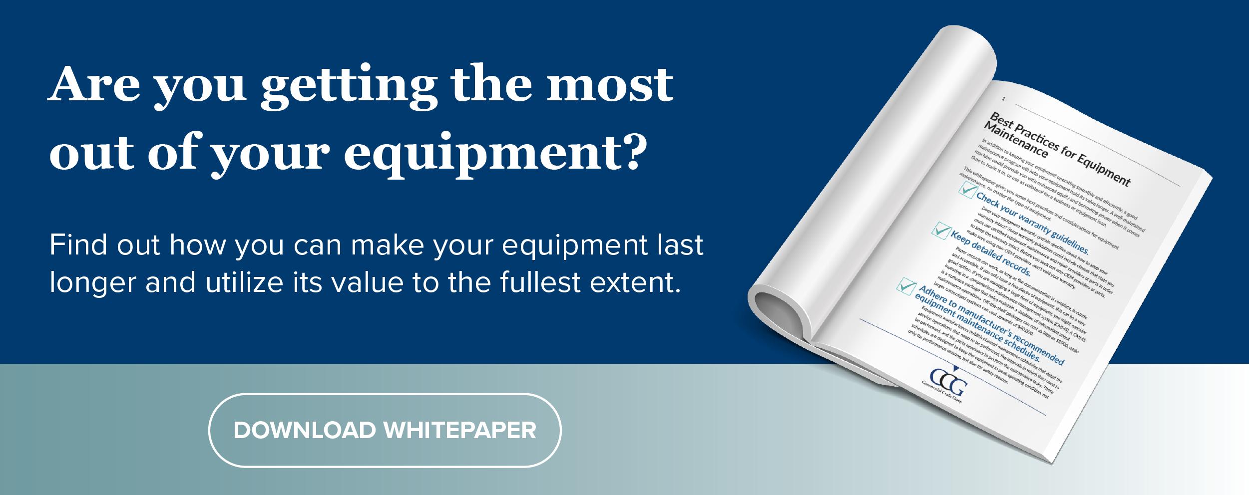 Equipment Maintenance Whitepaper