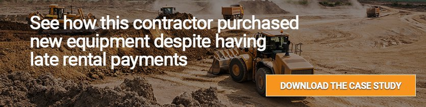 site prep contractor purchases equipment despite late rental payments