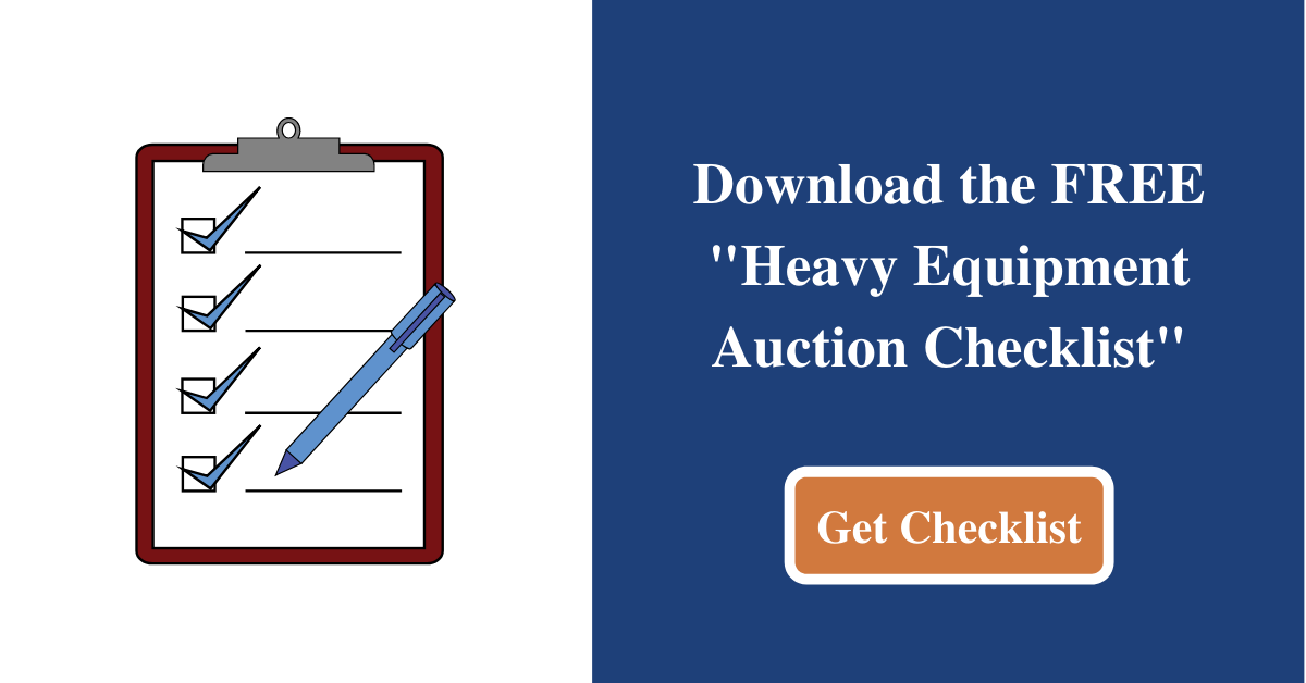 Heavy Equipment Auction Checklist