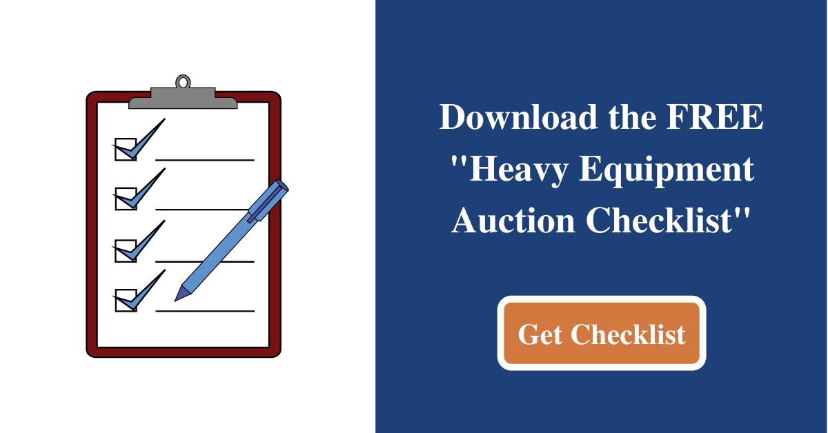 Heavy Equipment Auction Checklist