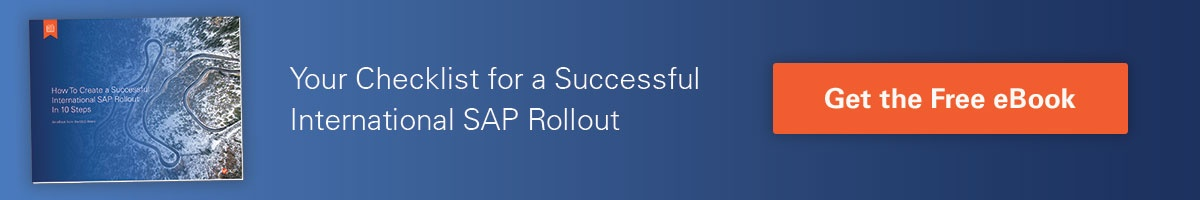 Your checklist for a successful international SAP rollout – Get the free eBook