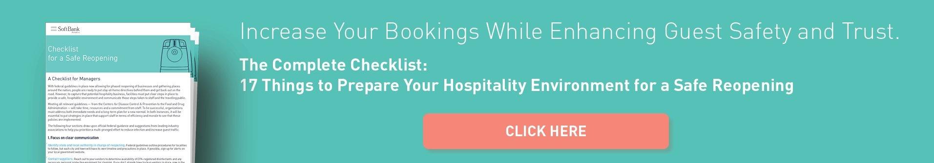 Hospitality Checklist