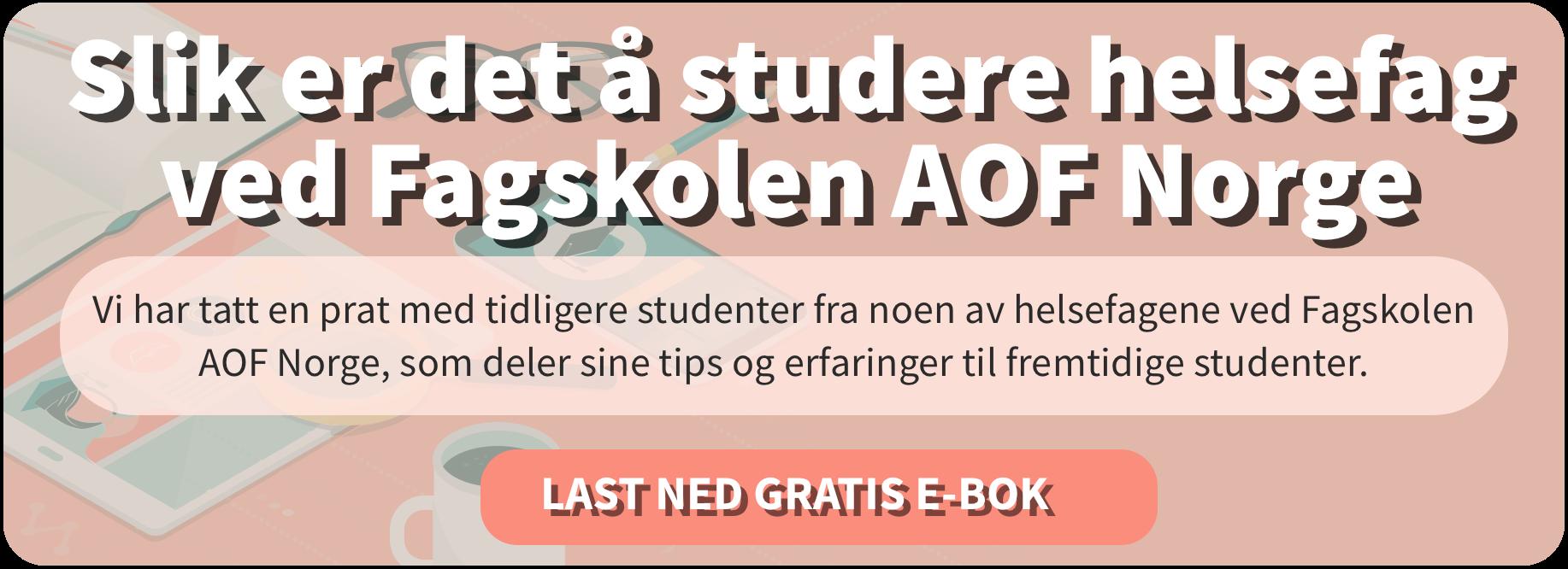 Intervju med tidligere studenter ved helsefag på Fagskolen AOF Norge.