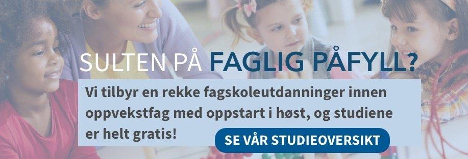 Søk oppvekstfagstudier hos Fagskolen AOF Norge