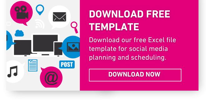 Social Media planning template Excel