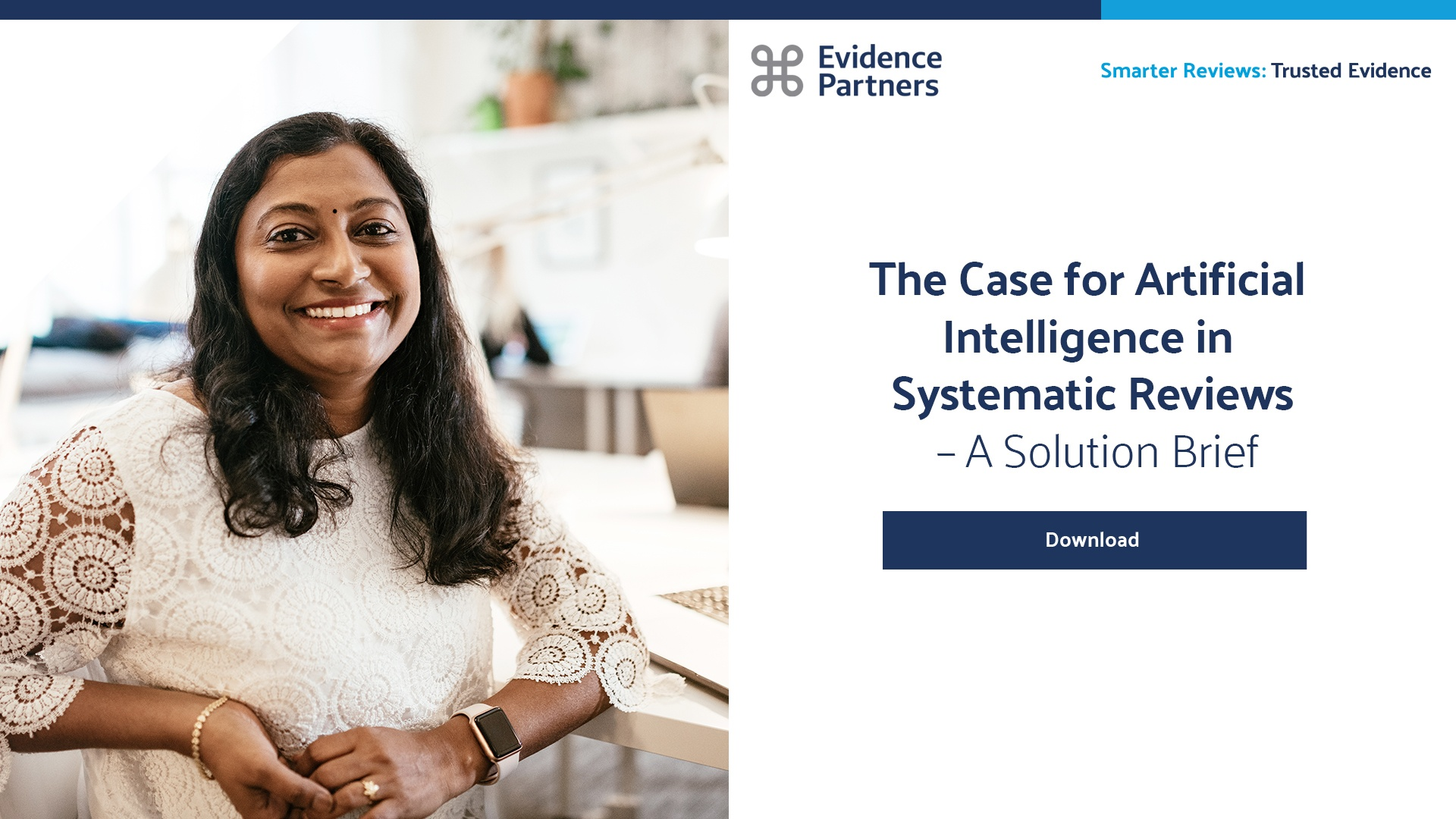 Download 'The Case for Artificial Intelligence in Systematic Reviews' Solution Brief