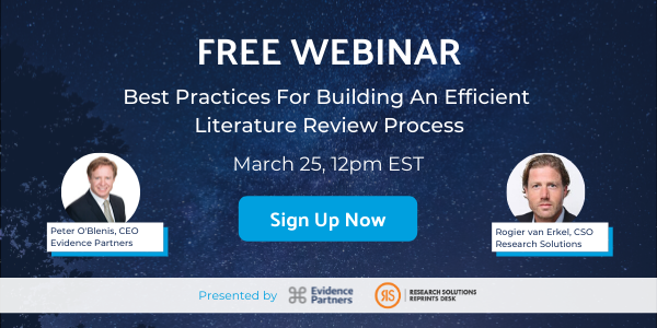 Free Webinar: Best Practices For Building An Efficient Literature Review Process