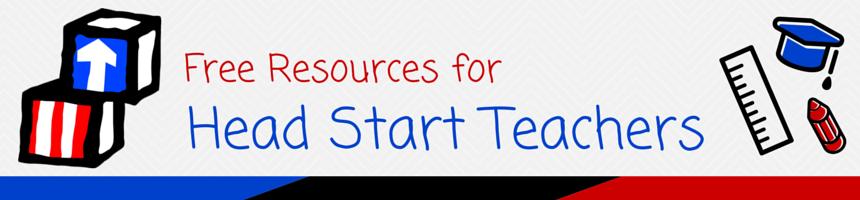 Free resources for Head Start Teachers