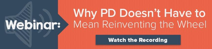 Why PD Doesn't Have to Mean Reinventing the Wheel