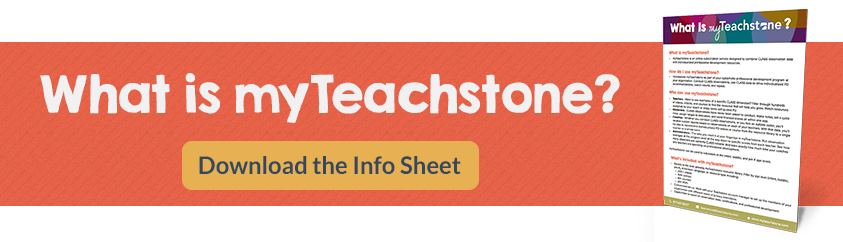 What is myTeachstone? Download the info sheet.