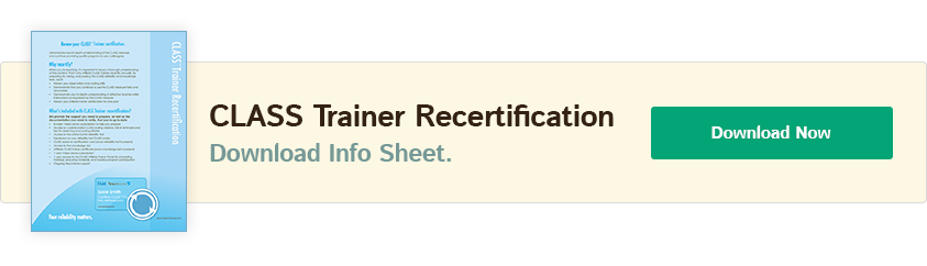 Class Trainer Recertification Info Sheet