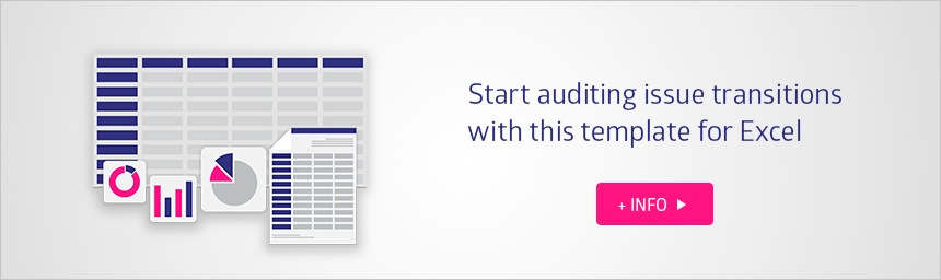 Audit issue transition from Jira with free spreadsheet