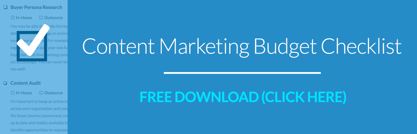 Content Marketing Checklist for Budgeting