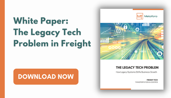 Download the white paper about legacy tech as a growth blocker in freight