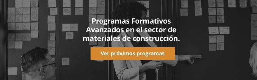 Programas formativos avanzados en el sector de materiales de construcción