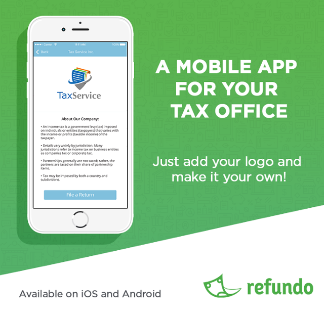 Mobile app for your tax office