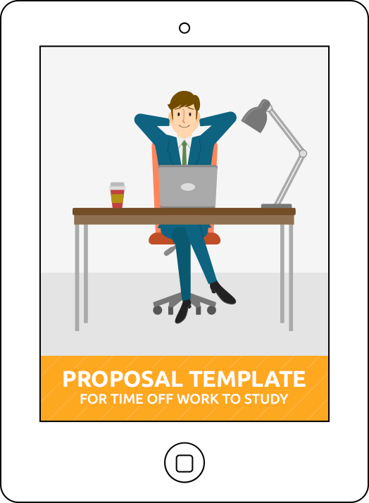 Download Keats Proposal Template for Time off Work to Study