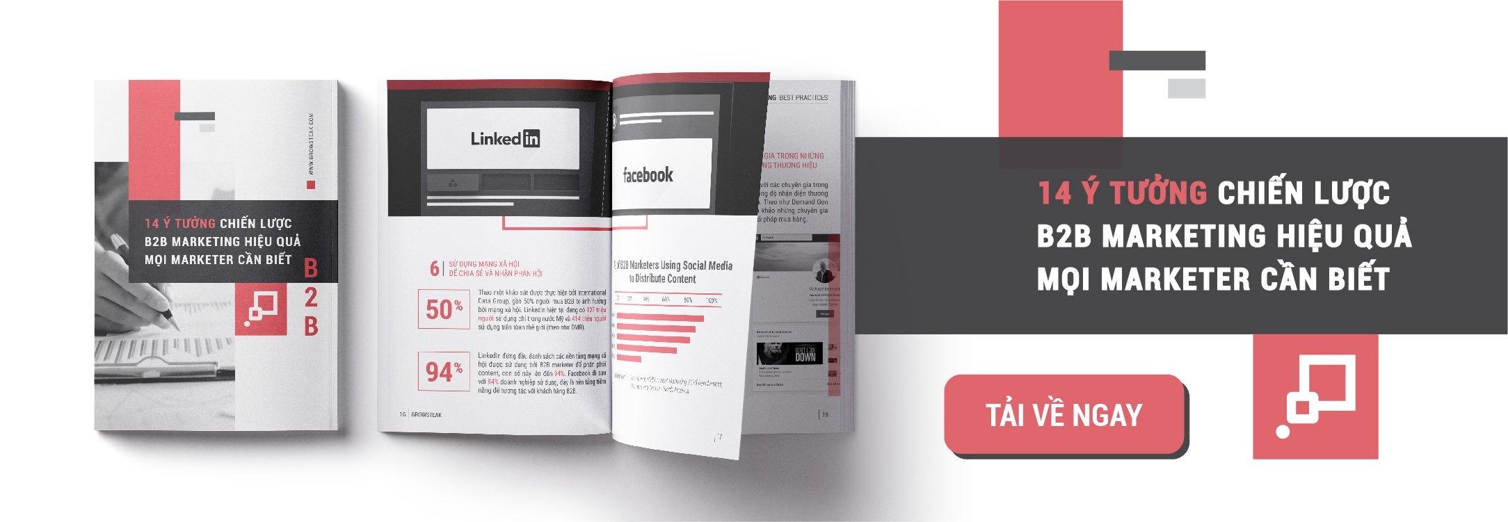 14 Ý Tưởng Chiến lược B2B Marketing Mọi Marketer Cần Biết