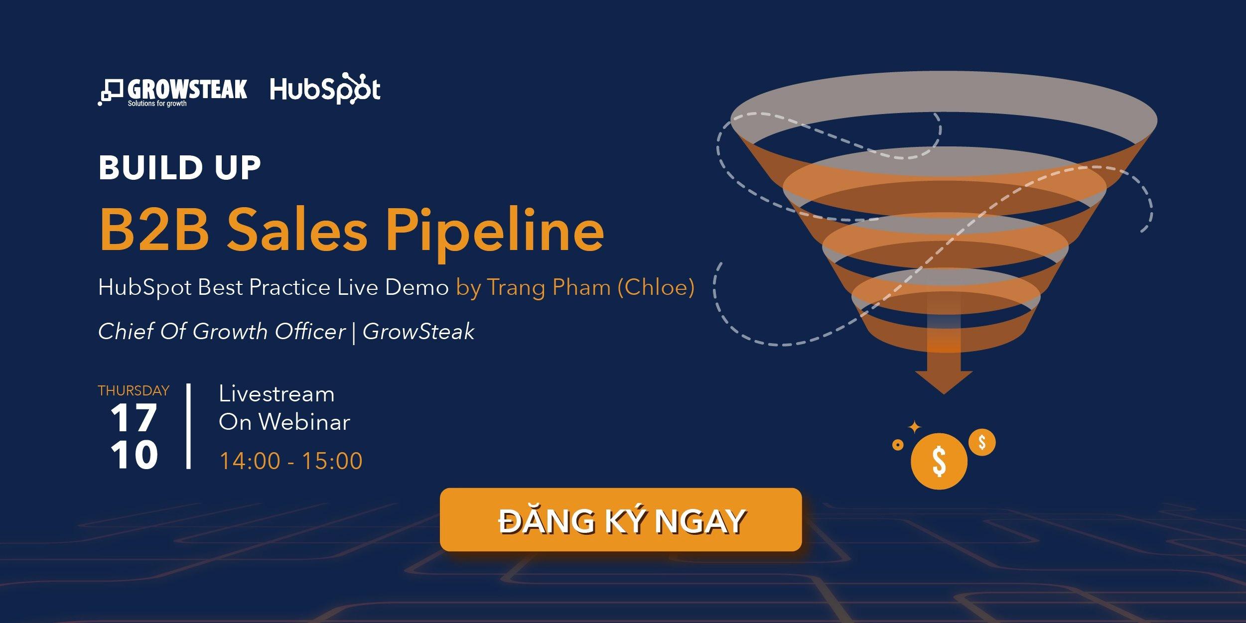 webinar b2b sales pipeline
