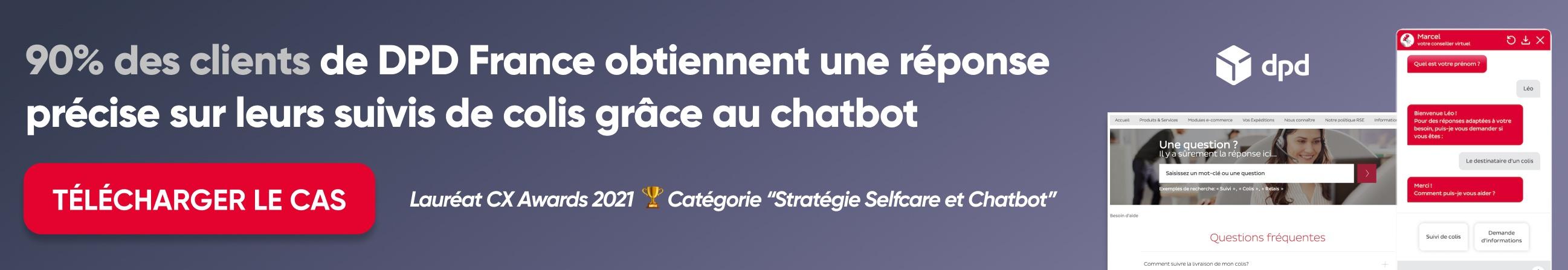 DPD France CX awards chatbot