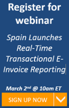 Spain Launches SII - Real-Time Transactional e-Invoicing  Reporting