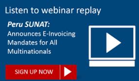 Peru SUNAT e-Invoicing and tax reporting requirements