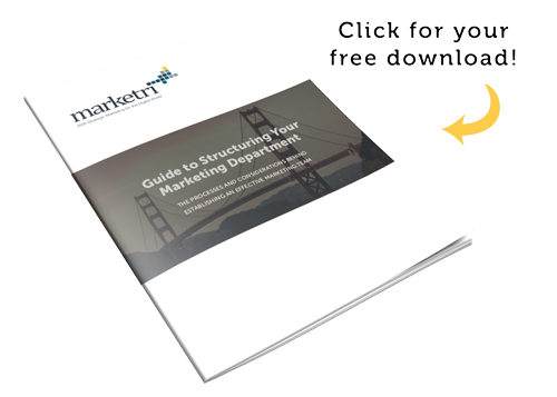 Get our free guide on structuring your marketing department!