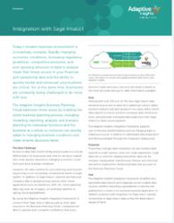 Adaptive Insights - Sage Intacct Integration Trackable PDF Datasheet