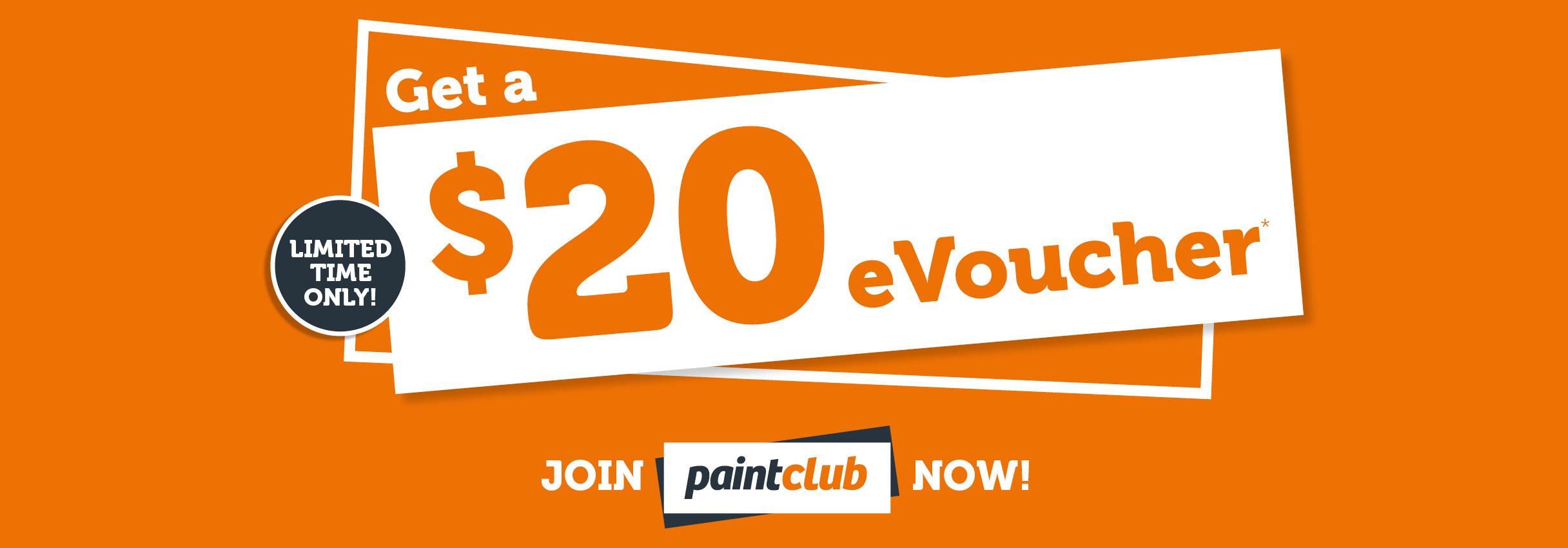 Get a $20 eVoucher - Join Paint Club Now!