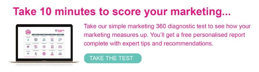 Take our marketing 360 diagnostic test