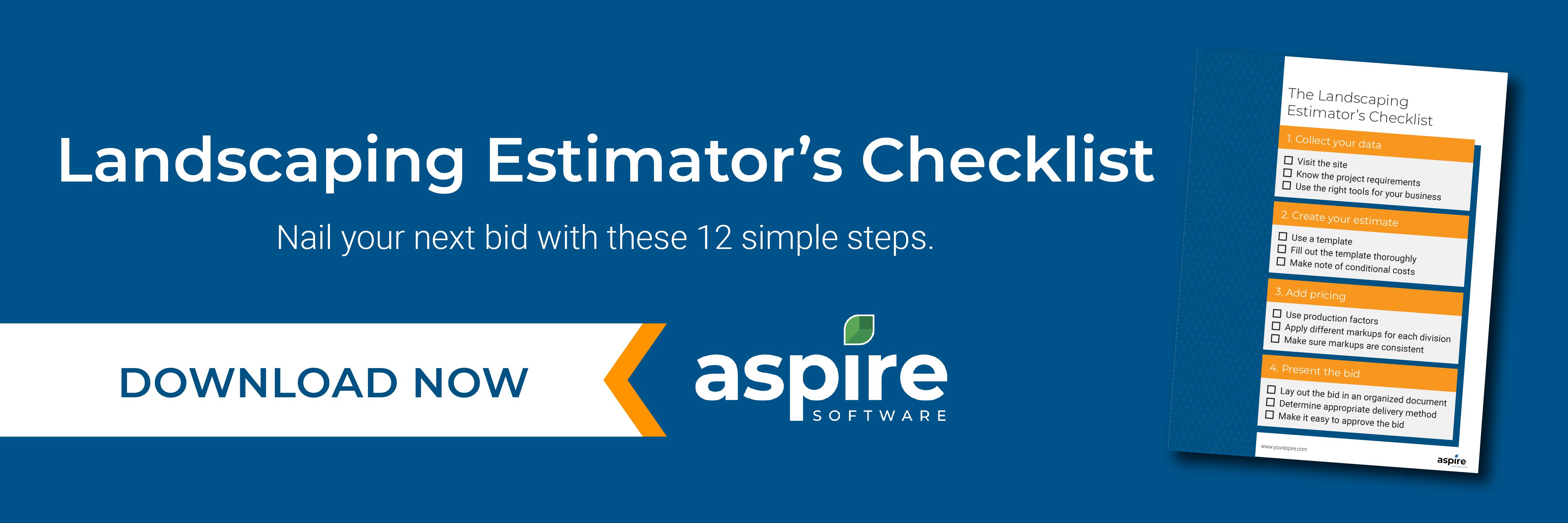 Download the landscaping estimator's checklist