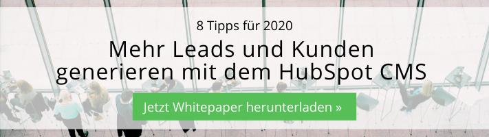 Whitepaper Leadgenerierung mit HubSpot CMS in 2020