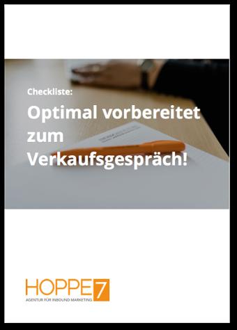 Optimal vorbereitet zum Verkaufsgespräch - kostenlose Checkliste jetzt downloaden!
