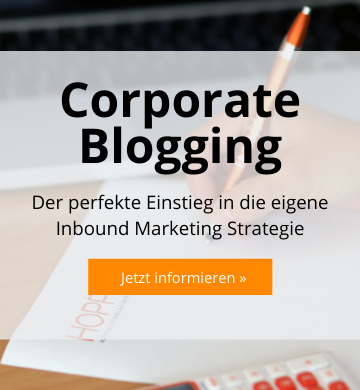 Corporate Blogging Workshop mit HOPPE7, Inbound Marketing Strategie