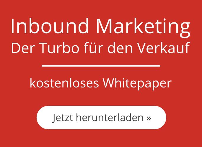 Inbound Marketing – Der Turbo für den Verkauf: Jetzt kostenloses Whitepaper herunterladen »
