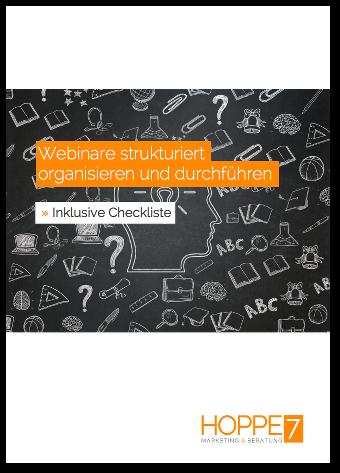 Webinare strukturiert - organisieren und durchführen
